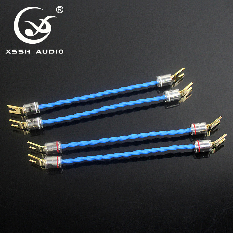 Mega Sale 4eed0 4pcs 20cm 0 2m Xssh Audio Bi Wire U Y