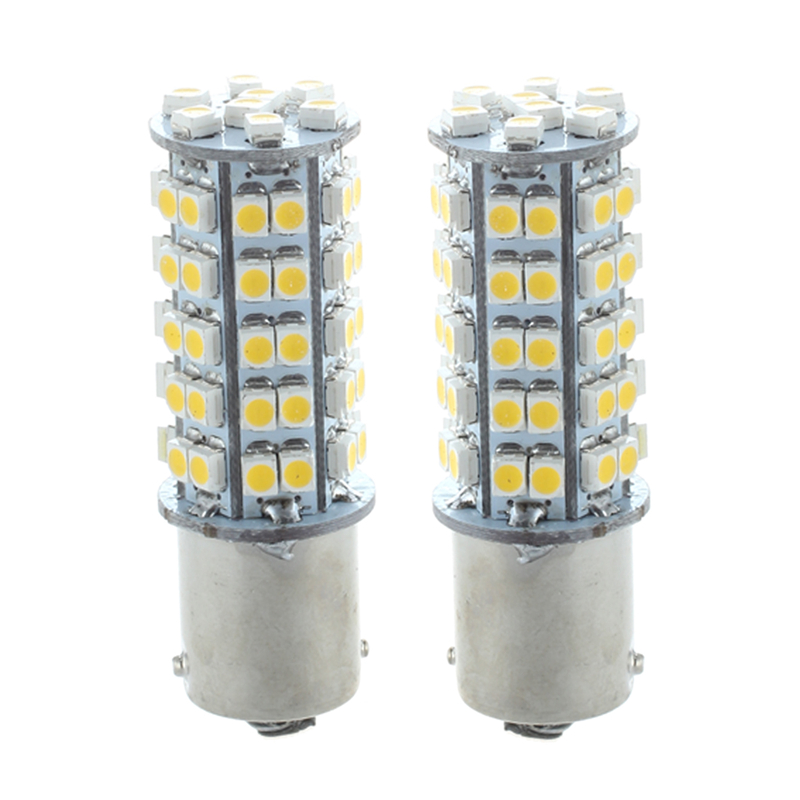 Fashion2 1156 1210 BA15S 68 SMD 3528 LED Warm White Tail Turn Stop Parking Light Lamp