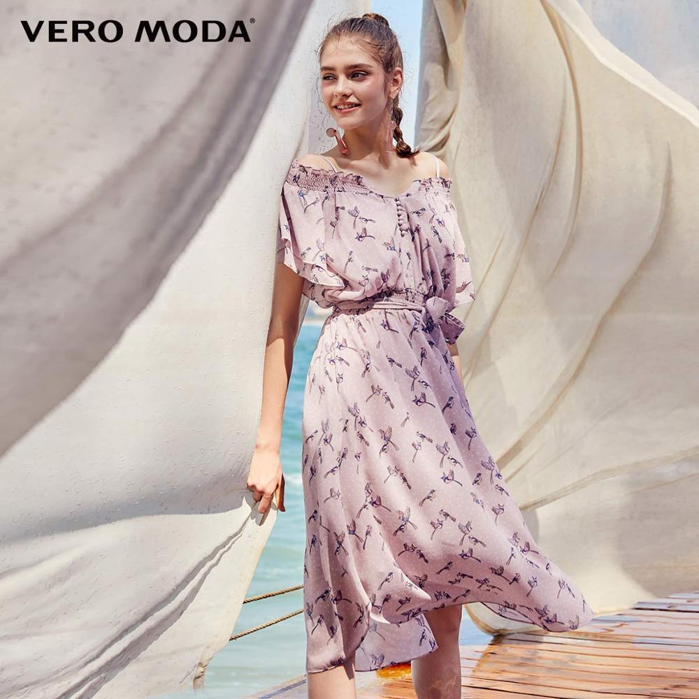 Vero Moda Women's Polka Dots Print Mid-length Chiffon Dress | 31927B541