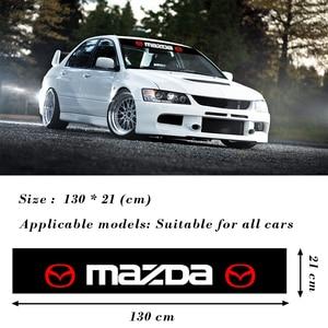 Image 2 - Auto Styling Frontscheibe Sonnenschirm Abziehbilder Hintere Banner Reflektierende Aufkleber Für Mazda 5 6 323 626 RX8 MX3 MX5 CX 5 atenza Axela