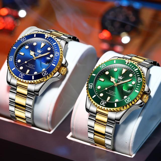 Original Luxury Automatic Watch Men Mechanical Movement Waterproof Sports Top Brand Stainless Steel Wristwatch Reloj Hombre 1