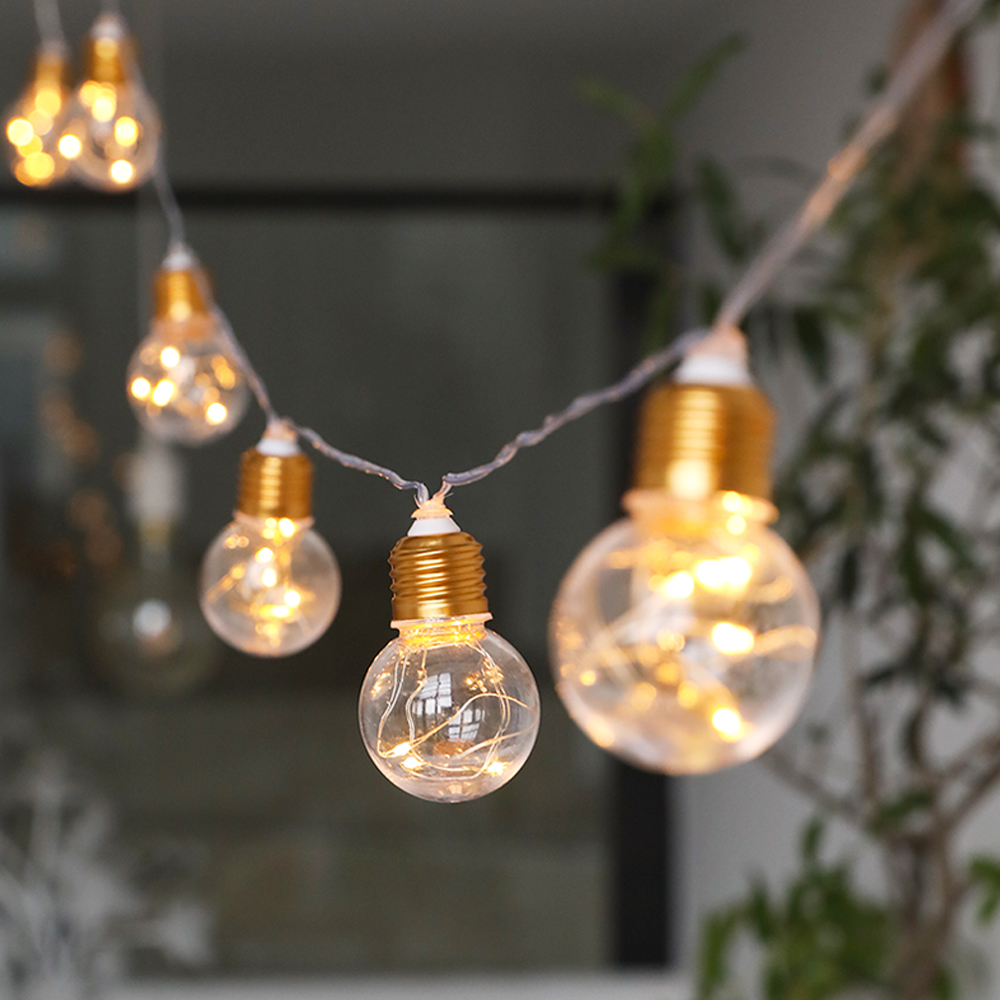 10 Bulbs 4M LED Festoon Party Lights Garland String Fairy Lights For Wedding Events Lights Garden Party Bar Bistro Lighting Deco