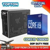 最新ミニpcインテルi9 10880h i9 9880h i7 9850h 2 * DDR4 2 * M.2 pcie + 1*2.5 'sataグラフィックス630ゲーム沈黙pcのhdmi dp ac無線lan bt