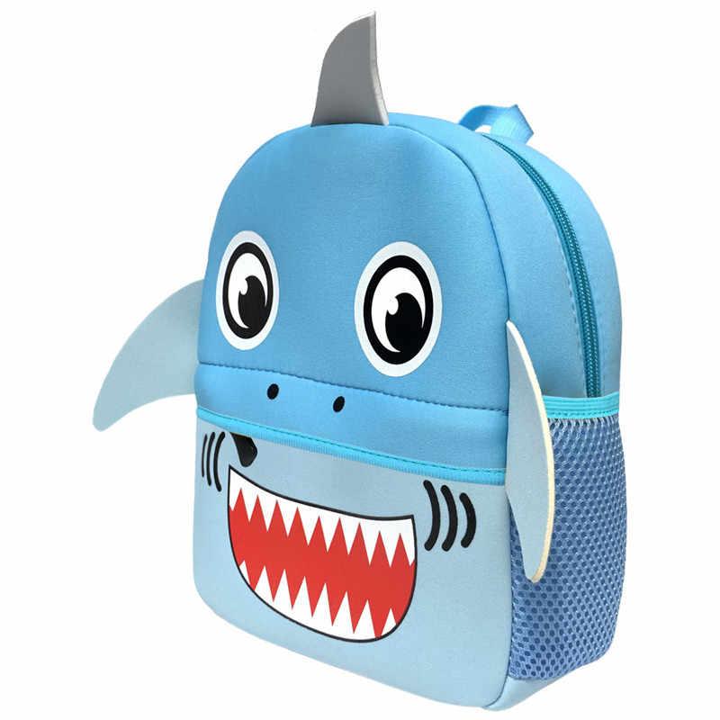 3D Cartoon Kinderen Rugzakken Meisje Jongens Schooltassen Baby Cut Peuter Kids Bag Neopreen Rugzak Kleuterschool Zak Brand Design