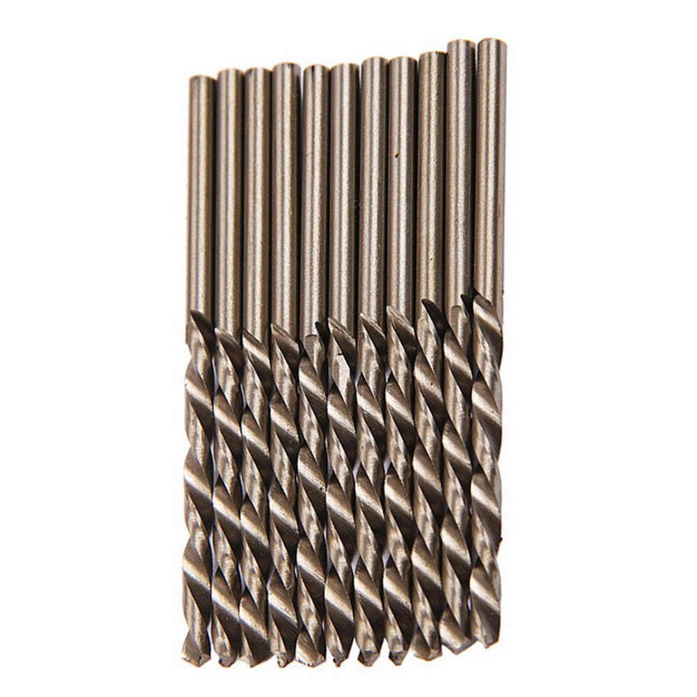 0.8 0.9 1 1.1 1.2 1.3 1.4 1.5 1.6 1.7 1.8 1.9 mm HSS-CO M35 Cobalt Steel Straight Shank Twist Drill Bits for Stainless Steel Color : 1.3mm
