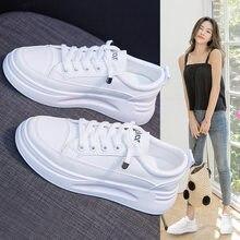 Sapatos femininos 2020 primavera nova respirável estudante running board sapatos aumentando muffin sapatos casuais