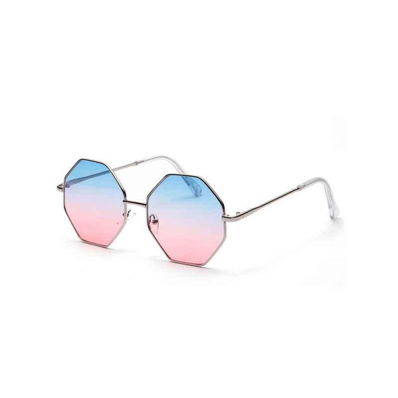 موضة Feminine نظارات العلامة التجارية مصمم المرأة مسدس النظارات الشمسية النساء نظارات الأزرق الوردي واضح عدسة نظارات شمسية