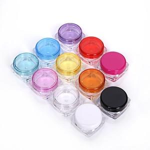 Image 5 - 100Pcs 3g/5g Piazza Vuota fondo Del Campione Jar Pot Fiale Contenitore Per Trucco Cosmetico Viso Crema pigmento Unghie Artistiche Regalo Creativo