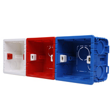 Cassette de empalme Universal KEKA caja interna de montaje ajustable para interruptor tipo 86 y enchufe blanco rojo azul caja de empalme
