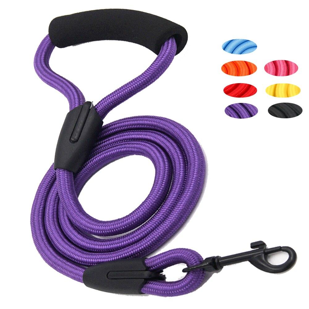 Guinzaglio del cane in esecuzione a piedi treno per grande piccolo gatto animali domestici Guinzagli cani guinzaglio corda di nylon Tenacità 7 colori 3 formati