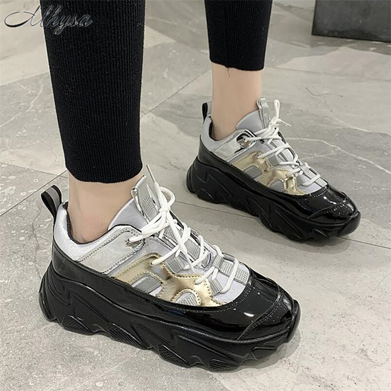 Mhysa 2020 New Spring Women Sneakers Fashion Thick Bottom Women Shoes Platform Sneakers Women Casual Shoes Zapatos De Mujer