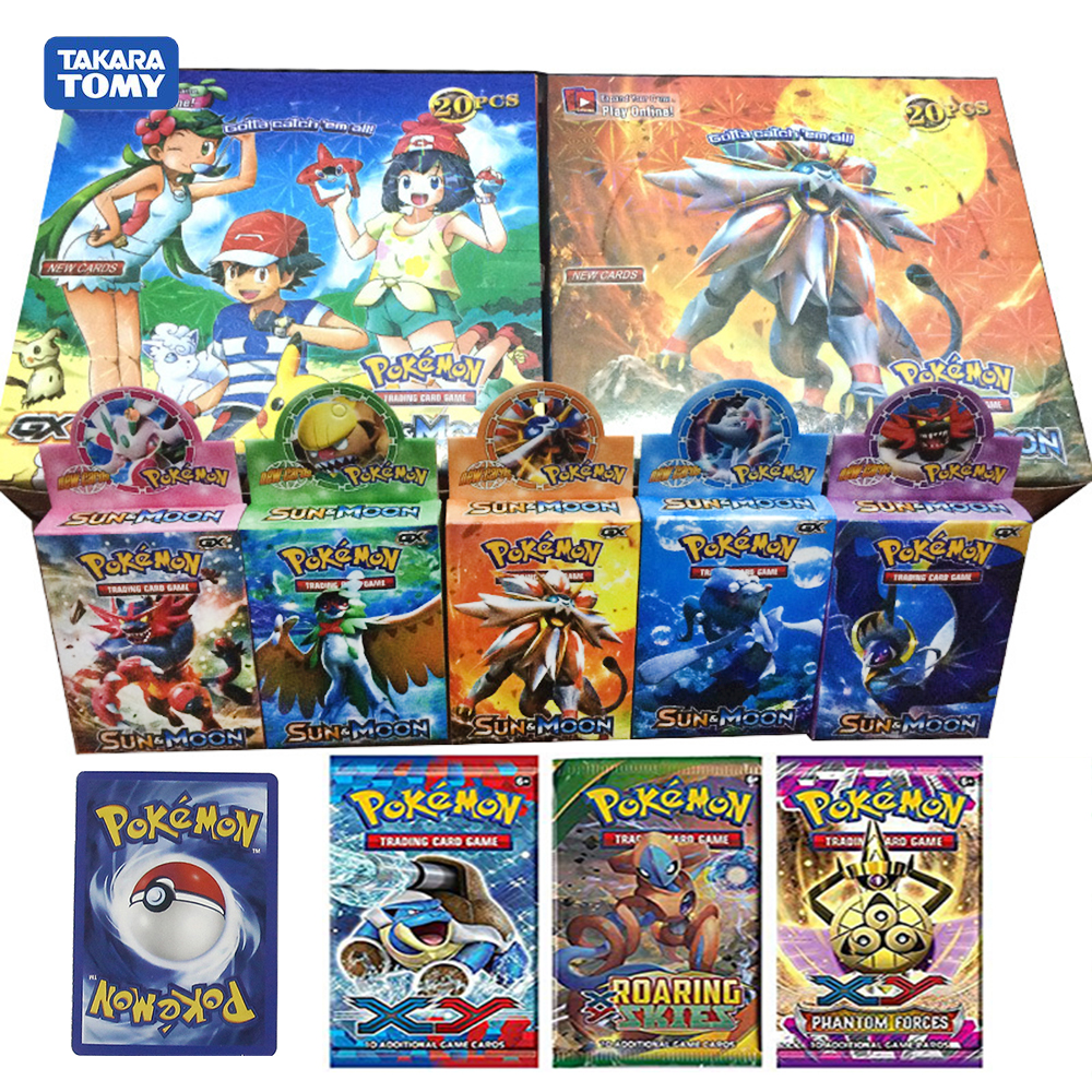 660pcs Pokemon Monster Pet Sun & Moom Team Up GX Booster Display Box Trading Cards Game Toys Gift For Children