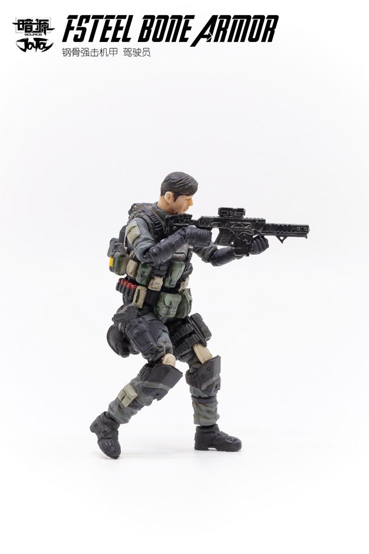 armadura osso mecha e soldado militar figura