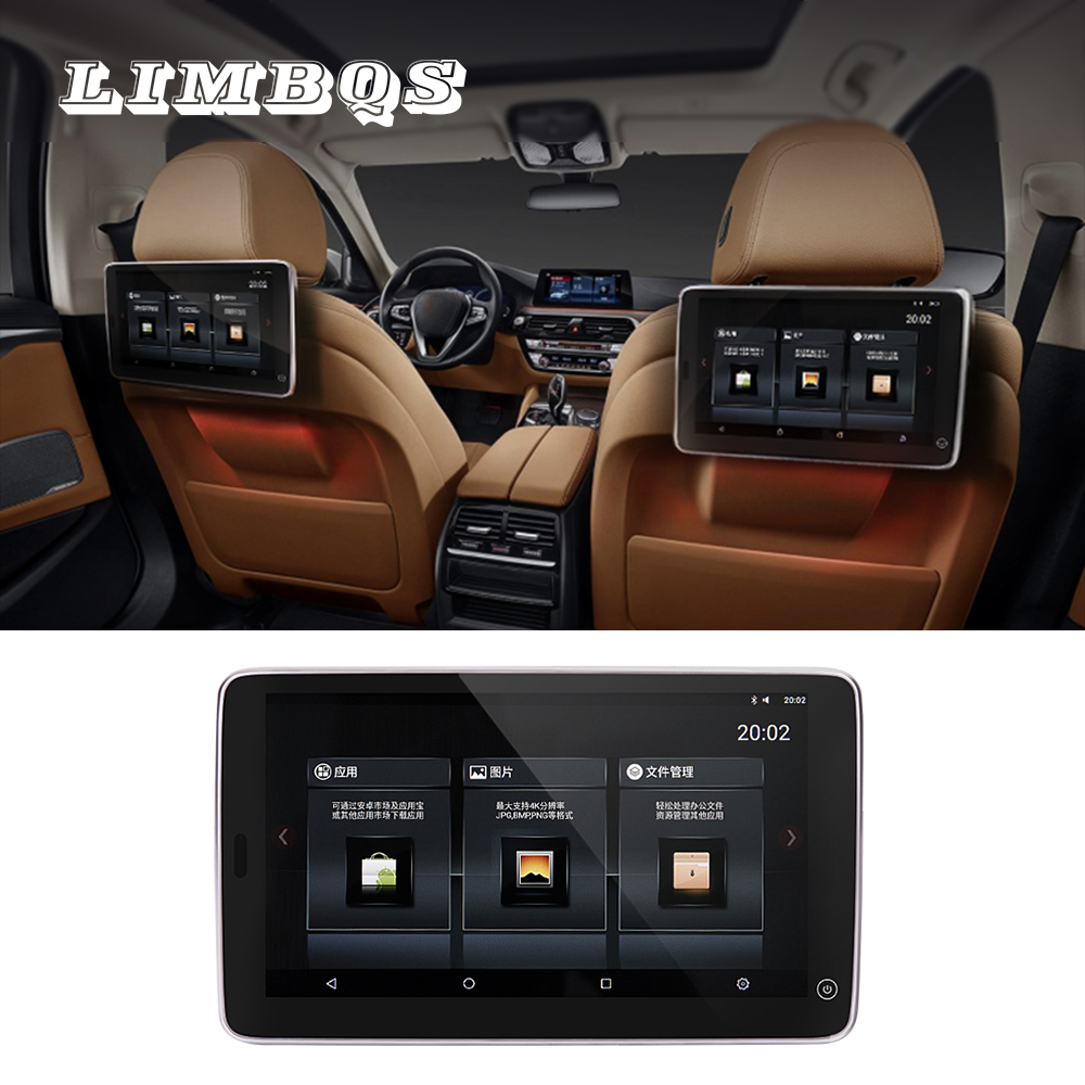 11.6 Inches WIFI 4K Screen For BMW G30 Android 9.0 Headrest Monitor Back Seat Support Touch Screen Video Hidden Bracket Game