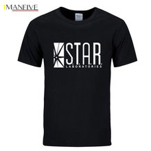 STAR labs new fashion T shirt men summer tops tees jumper the flash gotham city comic books superman tv series men's T-shirt printio star labs