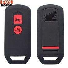 Силиконовый пульт дистанционного ключа Fob чехол для Honda PCX 150 Гибридный X-ADV SH125 Scoopy SH300 Forza 125 300 2 Кнопка чехол для ключа