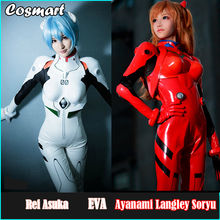 [Customize] Anime EVA Neon Genesis Evangelion Asuka Langley Soryu Ayanami Rei Cosplay Costume Battle Bodysuit Suit Uniform PU an(China)
