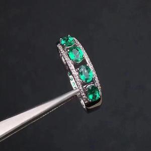 Image 3 - טבעי אמרלד טבעת אופנתי פנינה באיכות עמוק צבע 925 כסף להתאמה אישית גודל מספר