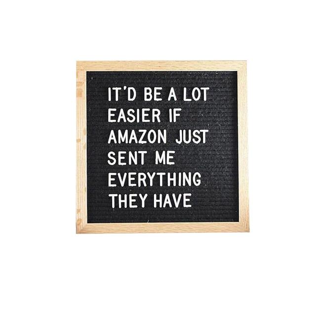 Красивая фетровая доска с буквенным принтом, деревянная рамка, сменные символы, цифры, сообщения, доски для дома, офиса, декоративная доска, ...