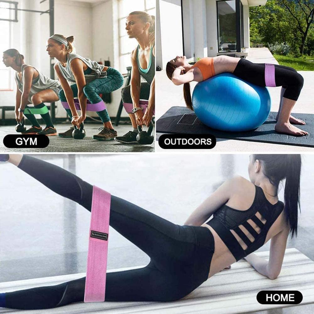 Эластичная лента AOLIKES, прочная нескользящая фитнес-резинка для йоги, занятий спортом, занятий спортом-5