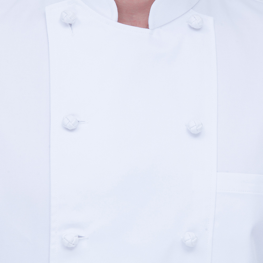 high quality double breasted white chef shirts restaurant chef uniforms catering work clothes short sleeves Chef Jackets M-4XL