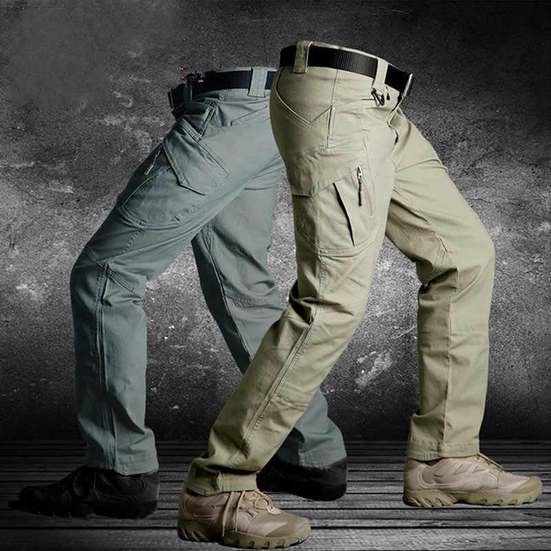 Pantalones Tacticos Para Hombre Pantalon Largo Militar Multibolsillos Resistente Al Agua Para Trabajo De Combate 4xl 5xl Pantalones Informales Aliexpress
