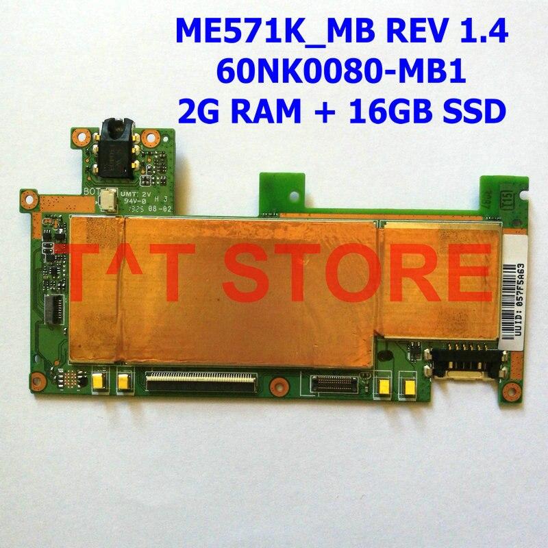 Original 60NK0080-MB1 For ASUS FOR Google Nexus 7 ME571K Tablet Motherboard Mainboard ME571K_MB REV 1.4 2G + 16G Free Shipping