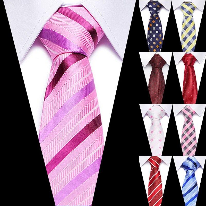 Luxury Formal Ties Business Vestidos 100% Silk Wedding Classic Men's Tie Stripe Grid 7.5cm Dress Fashion Accessories Men Necktie