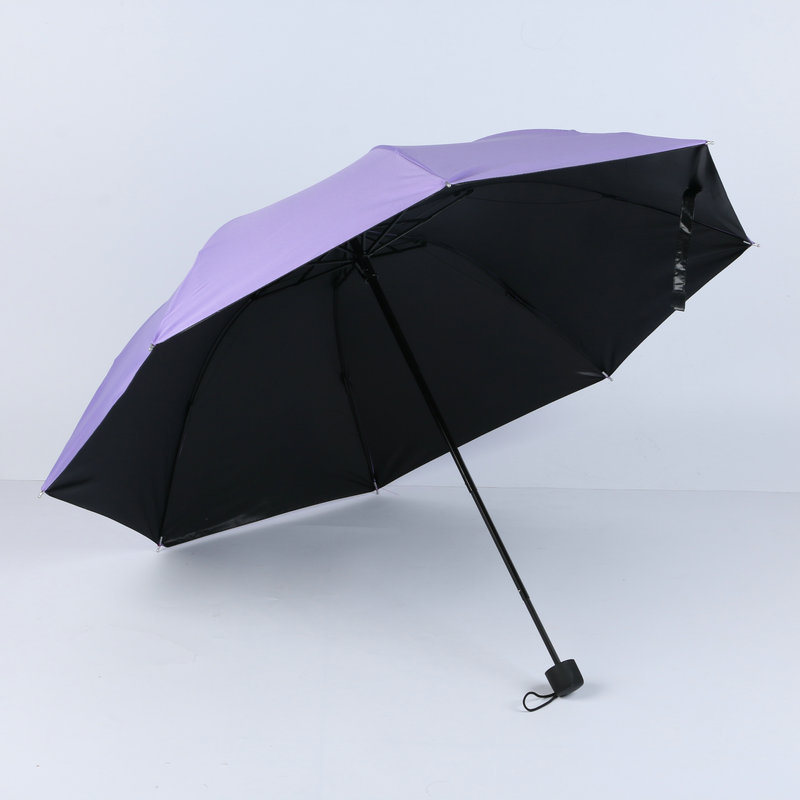 Vinyl Sun-resistant Parasol Four Folding Tri-fold Umbrella Mini Parasol UV-Protection Umbrella Convenient