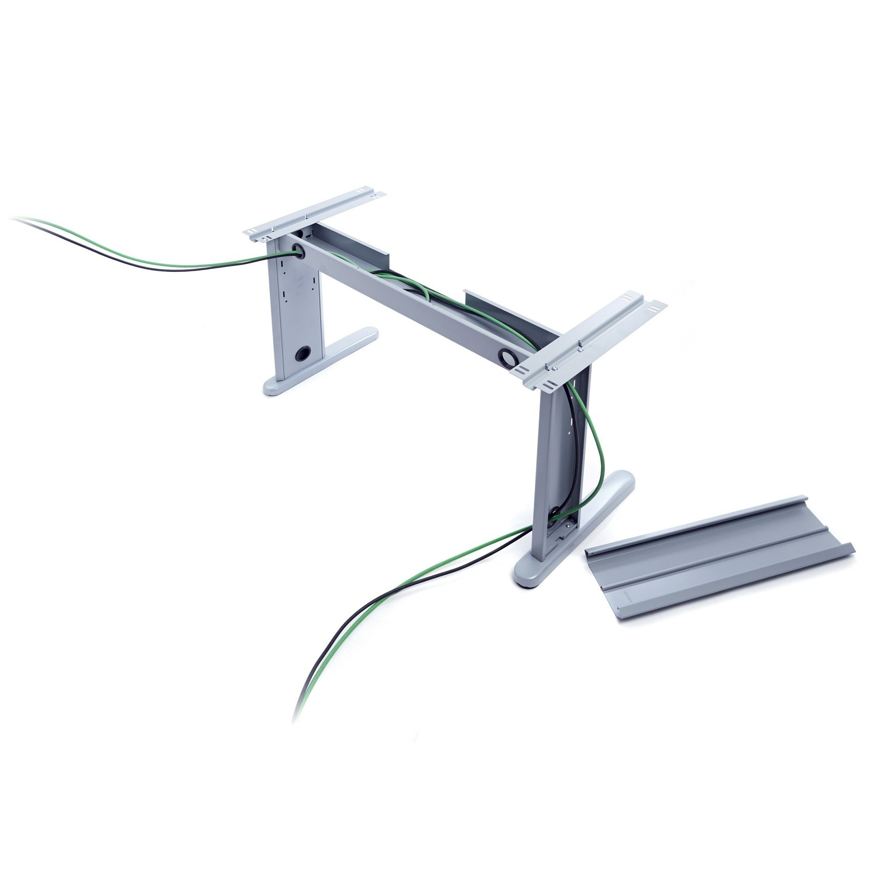 TABLE DE OFFICE SERIES METAL L SHAPE RIGHT 160X120 ALUMINUM/BEECH (THE FOOT COLUMN REFERENCE 2945 NOT INCLUDED, YOU BUY
