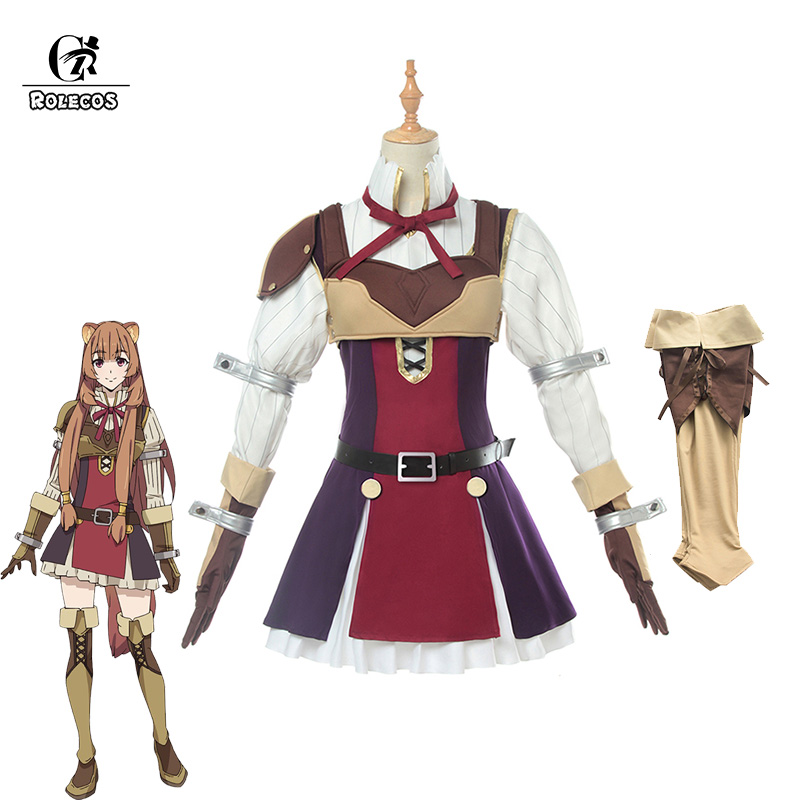 ROLECOS Anime Tate No Yuusha No Nariagari Cosplay Costumes Raphtalia Costume For Women Cosplay Costume Full Sets