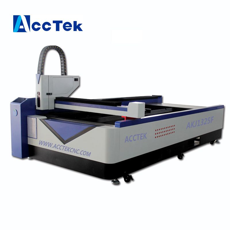 Double Head Fiber Laser Cutting Machine For Steel Acrylic Fiber Laser Cutter For Metal And Non-metal AKJ1325F