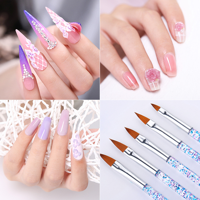 Nail Liner Brush Drawing Lines Flower Painting Pen Mixed Size Colorful Nails Pen Plastic Handle Nail Art Tools Set Kits