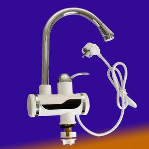 Image 4 - Grifo eléctrico sin depósito con pantalla de temperatura grifo de agua caliente instantáneo, cocina, calentador de agua, calefacción de agua, 3000w
