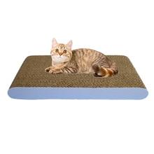 Игрушки для кошек Когтеточка гофрированный бумажный коврик интерактивные игрушки для предотвращения котов шлифовальный скребок для ногтей коврик матрас