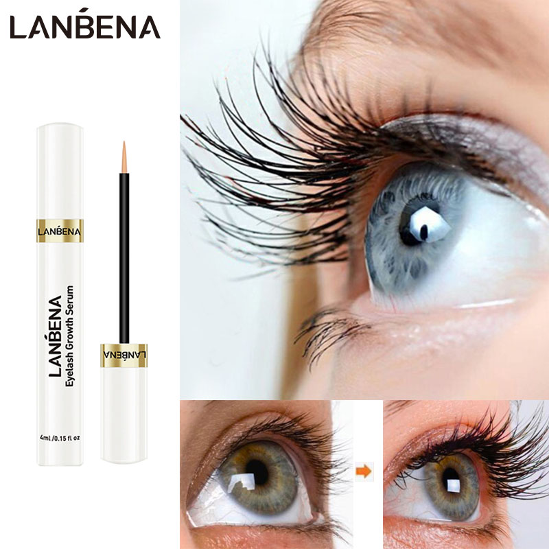 LANBENA Eye Eyelash Growth Serum 7 Day Eyelash Enhancer Longer Fuller Thicker Lashes Eyelashes Eyebrows Enhancer Eye Care Liquid