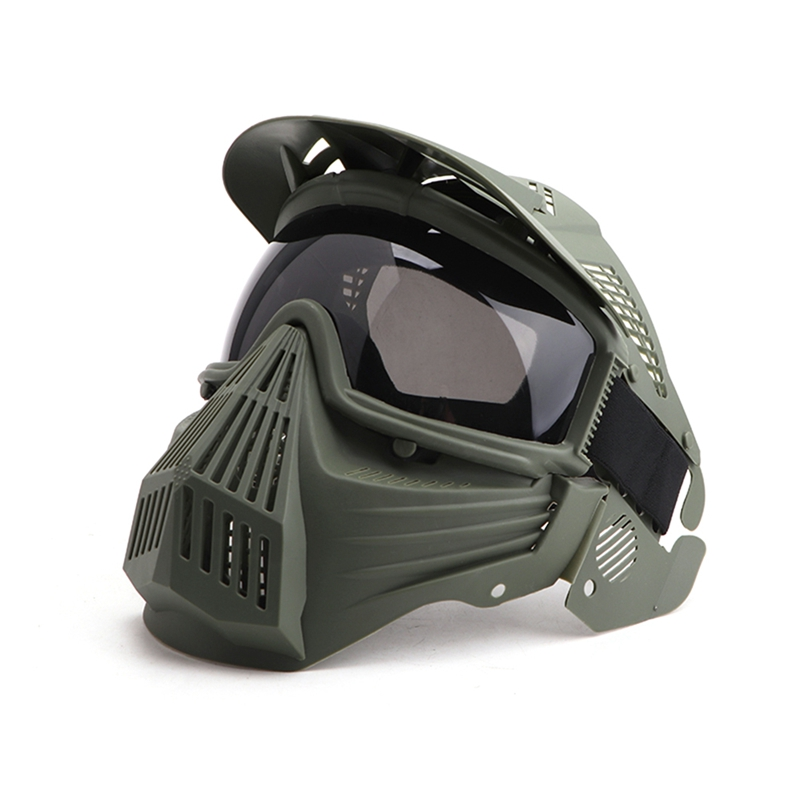 Gray Lens Mask Can Full Face Protection Adjust Mask Eye Mask Fit CS Survival Game Shooting Movie Props image