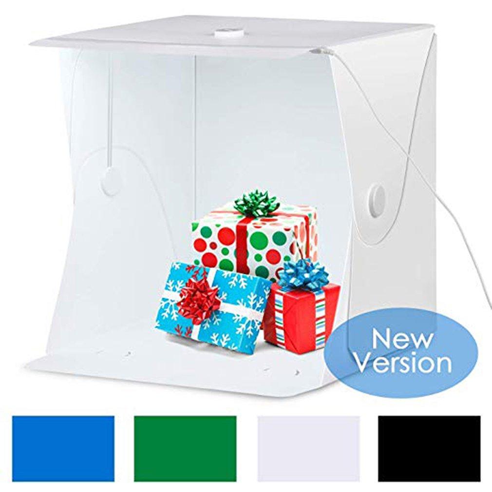 40CM Large Size Folding Lightbox Photography Photo Studio Softbox LED Light Soft Box Photo Background Kit Light Box Button Type