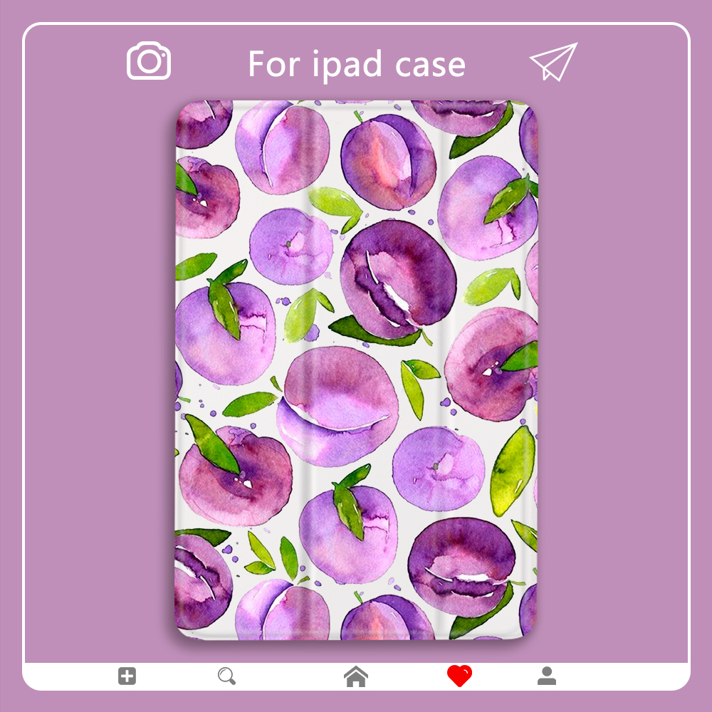 Fruit Peach for ipad pro 11 case 2020 Hard Back Cover Mini <font><b>5</b></font> Air <font><b>2</b></font> For ipad 7th Generation Cases pro <font><b>12</b></font> 9 case 2020 Air 3 Mini <font><b>2</b></font> image