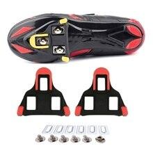 цена на One set 2 x Bike Self-locking Pedal Cleats Set Yellow For Shimano SM-SH11 SPD-SL for road Mountain Bike accessories