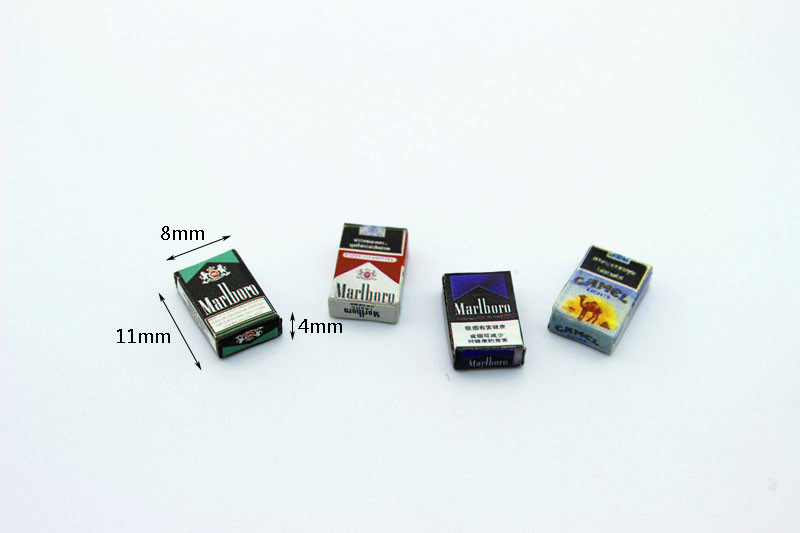 New 1:12 Dollhouse Miniature Mini Cigarette Case Furniture Toy Match For Forest Animal Family Collectible Gift