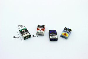 New 1:12 dollhouse miniature Mini cigarette case furniture toy match for forest animal family collectible Gift(China)