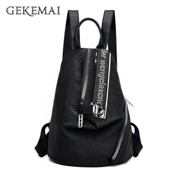 2018 design women black pu leather backpack high quality casual large capacity backpacks for school travel bag for women 2020 Women Backpack PU Leather Backpack Large Capacity Travel Backpacks Shoulder Bags Fashion School Bags for Teenage Girls Sac