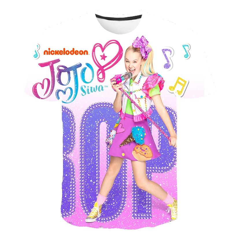 3D Baby JOJO Siwa T-shirts Girls Clothes Summer Cartoon Billie Eilish Tops Boys Clothes T Shirt Girls Costume Fashion Camisetas