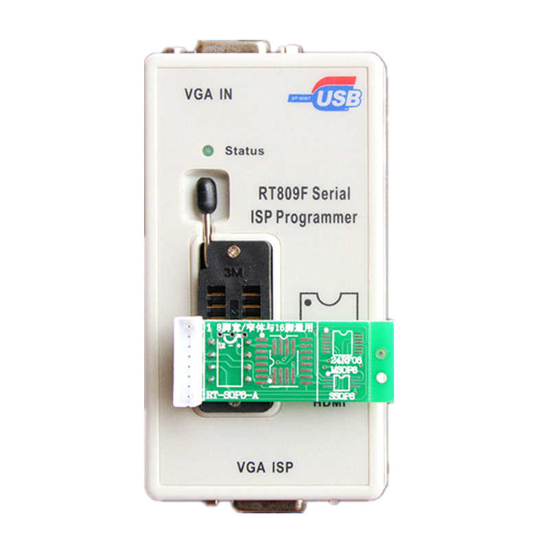 Оригинальный программатор серии RT809F ISP с адаптерами + адаптер 1,8 В + тестовый зажим SOP8 + кабель EDID + ICSP bios, универсальный программатор