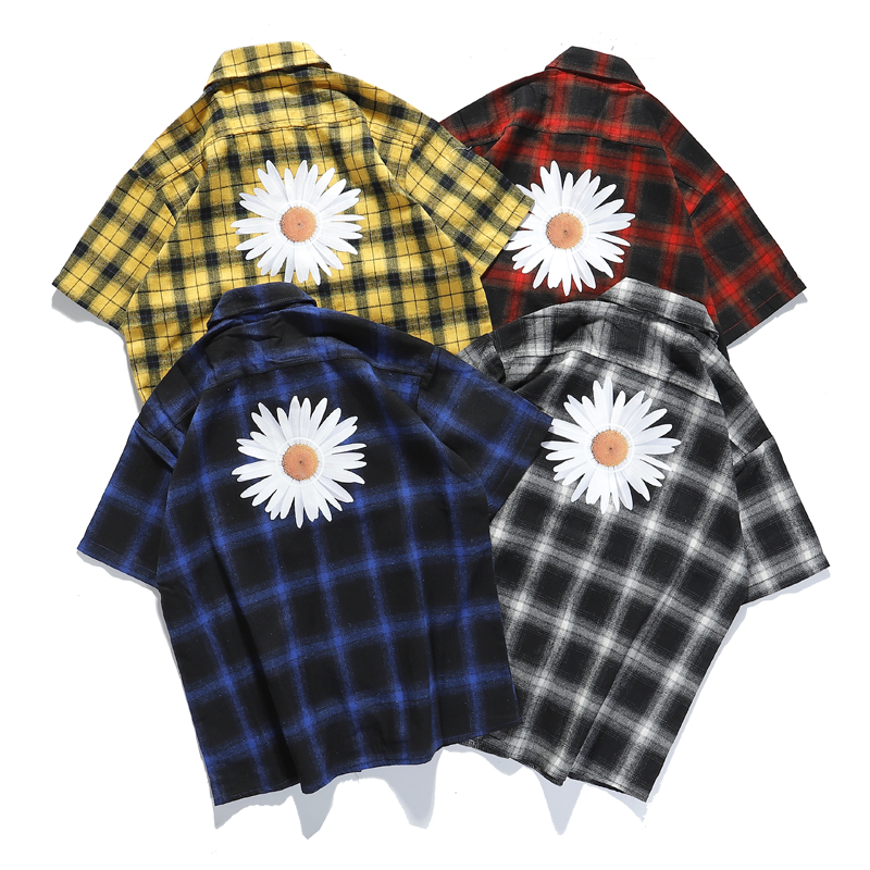 2020 New Daisy Shirts  Men Women Unisex Casual G-DRAGON Series Daisy SHIRTS  Short Sleeve GD 4 Colors