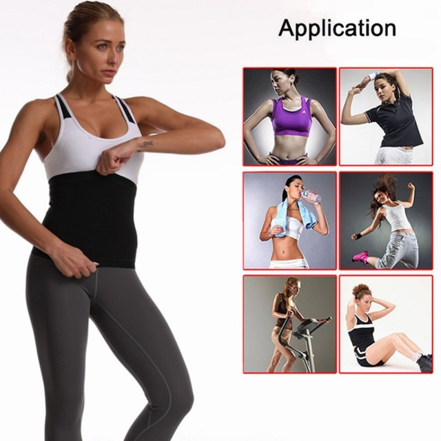 Men Women Neoprene Waist Trimmer Belt, Weight Loss Sweat Bands Tummy Sauna Sweat Belts Gym Sports Fitness Accessories 1