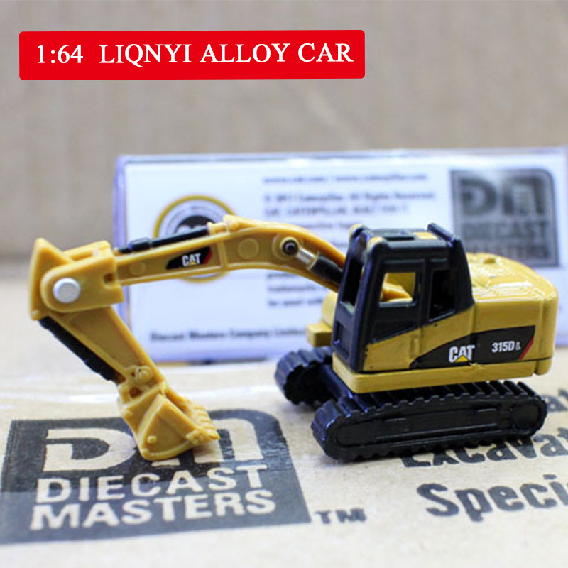 1:64 High Mini Simulation Engineering Vehicles Alloy Model Toys Wheel Excavator Mixer Excavator Diecast Metal