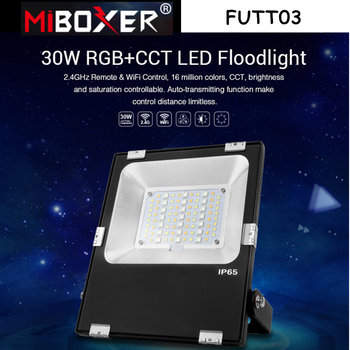 Miboxer FUTT03 30W RGB+CCT LED Flood light Waterproof IP65 Outdoor lamp For Garden Park garden light Pulic Archittectural Light 30w outdoor wall washer garden yard park square building projector lamp led flood light