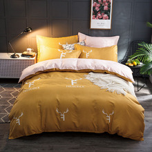 DannyKarl Flower Bed Linen AB Side Duvet Cover Sheet 4pcs/set Classic Bedding Set Pastoral